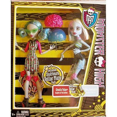 Гулия Йелпс и Эбби Боминейбл - Ролики (Ghoulia Yelps and Abbey Bominable Monster High: Roller Maze - 2 in Box) (фото, вид 1)