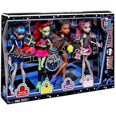 """Гулия Йелпс, Венера Макфлайтрап, Клодин Вульф, Рошель Гойл - Набор - """"Ночь монстров"""" (4 doll in box: Ghoul's Night out) (фото, вид 1)"""