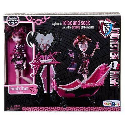 Дракулаура и ванная комната (Draculaura Doll and Powder Room Playset) (фото, вид 1)