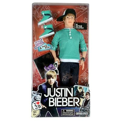 Джастин Бибер (Justin Bieber JB Style Collection Real Hairstyle Doll - Green Hoodie and Jeans) (фото, вид 1)