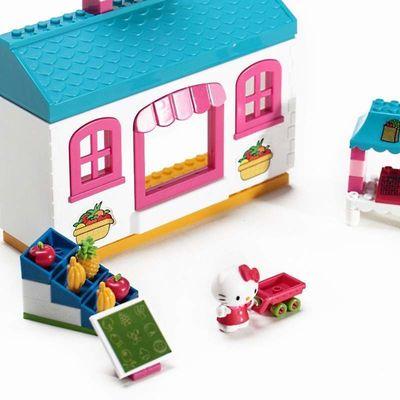 Хелло Китти - Фруктовый рынок - Мега блок (Hello Kitty - Fruit Market - Mega Bloks) (фото, вид 1)