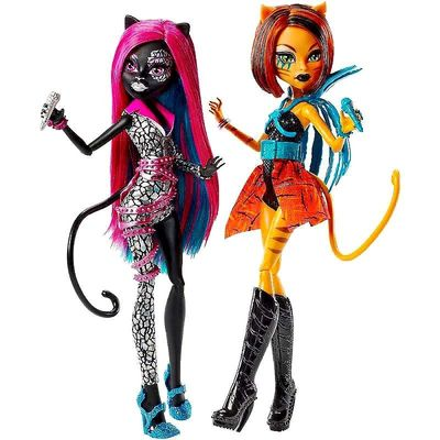 Кетти Нуар и Торалей Страйп - Свирепые Рокеры (Monster High Fierce Rockers Catty Noir and Toralei) (фото, вид 1)