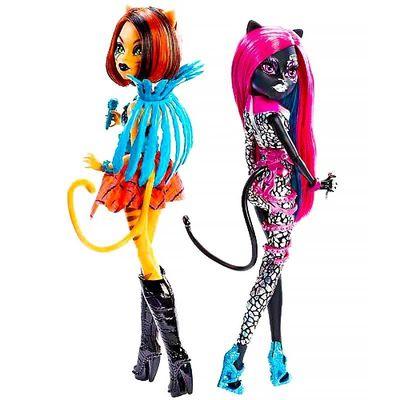 Кетти Нуар и Торалей Страйп - Свирепые Рокеры (Monster High Fierce Rockers Catty Noir and Toralei) (фото, вид 2)