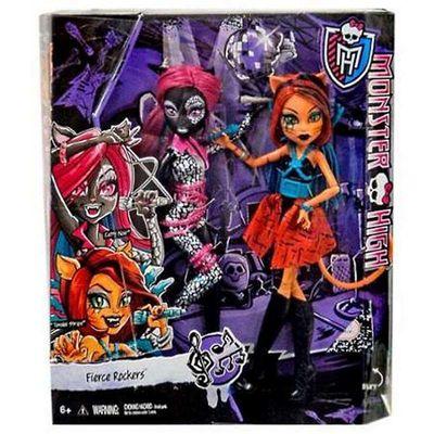 Кетти Нуар и Торалей Страйп - Свирепые Рокеры (Monster High Fierce Rockers Catty Noir and Toralei) (фото, вид 3)