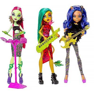 Венера Макфлайтрап, Дженифер Лонг, Клодин Вульф - Свирепые Рокеры (Monster High Fierce Rockers) (фото, вид 1)