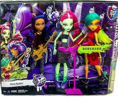 Венера Макфлайтрап, Дженифер Лонг, Клодин Вульф - Свирепые Рокеры (Monster High Fierce Rockers) (фото, вид 2)
