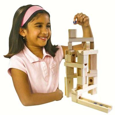 Конструктор - головоломка (Ideal Amaze 'N' Marbles 60 Piece Classic Wood) (фото, вид 1)