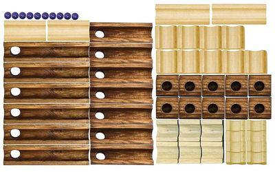 Конструктор - головоломка (Ideal Amaze 'N' Marbles 60 Piece Classic Wood) (фото, вид 2)