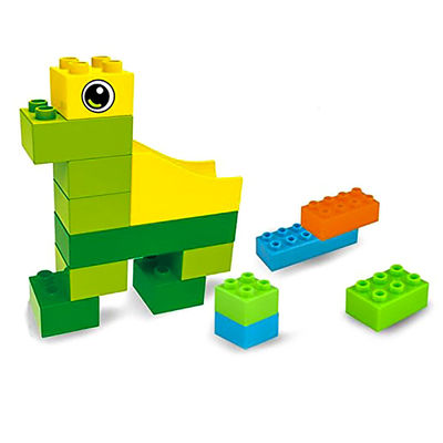 Конструктор детский (Hoyo Marble Run Coaster with Building Blocks and Race Marbles Set, Marble Game Race Railway Track Construction Learning Educational Toys, Endless Fun Kit (47pcs)) (фото, вид 3)