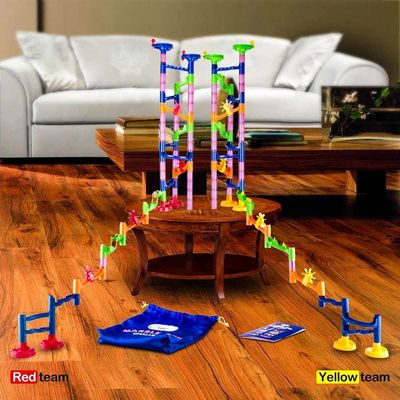 Конструктор - Гонки на выживание (Marble Run Challenge 122 piece set. Race to the Bottom. Marbles Will Not Get Stuck.) (фото, вид 3)