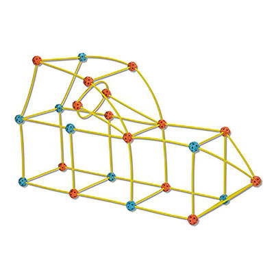 """Палатка-конструктор """"Дискавери"""" (Discovery Kids 69-Piece Flexible Construction Fort With Custom Connectors, Easy To Assemble For Kids Ages 5 And Up) (фото, вид 3)"""