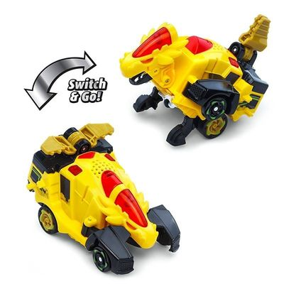 Дино-Трансформер - Круз и Спиннер (VTech Switch & Go Dinos - Bipedal Turbo Dinos 2-pack with Cruz and Spinner) (фото, вид 2)