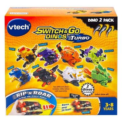 Дино-Трансформер - Круз и Спиннер (VTech Switch & Go Dinos - Bipedal Turbo Dinos 2-pack with Cruz and Spinner) (фото, вид 4)