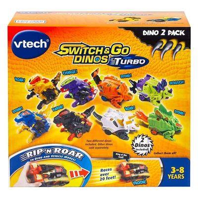 Дино-Трансформер - Круз и Спиннер (VTech Switch & Go Dinos - Bipedal Turbo Dinos 2-pack with Cruz and Spinner) (фото, вид 4)