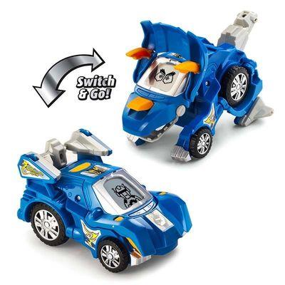 Дино-Трансформер - Сливер и Хорн (VTech Switch & Go Dinos - Animated Dinos 2-pack with Sliver and Horns) (фото, вид 1)