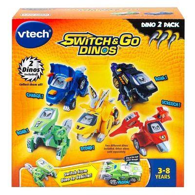 Дино-Трансформер - Сливер и Хорн (VTech Switch & Go Dinos - Animated Dinos 2-pack with Sliver and Horns) (фото, вид 5)