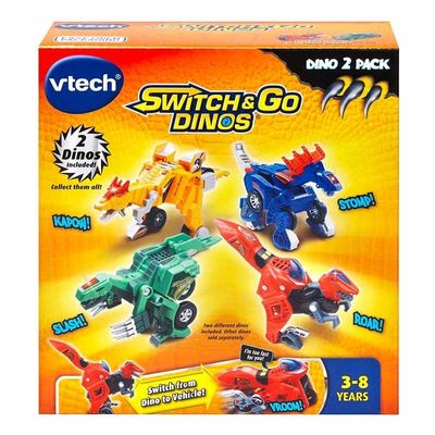 Дино-Трансформер - Куивер и Стомпсалот (VTech Switch & Go Dinos - Incredible Speed Dinos 2-pack with Quiver & Stompsalot) (фото, вид 3)