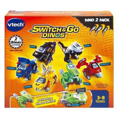 Дино-Трансформер - МК Рев и Аллазавр (VTech Switch & Go Dinos - Animated Dinos 2-pack with MC Roar and SkySlicer) (фото, вид 3)