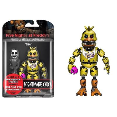 Чика кошмарная (Funko Articulated Five Nights at Freddy's - Nightmare Chica) (фото, вид 1)