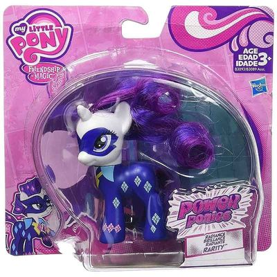 Пони Рарити - могучие пони (My Little Pony Friendship is Magic Power Ponies Radiance Brillance Radiante Rarity Exclusive) (фото, вид 1)