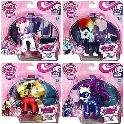 Набор пони - могучие пони в индивидуальной коробке каждая (My Little Pony POWER PONIES - Pinkie Pie, Applejack, Rainbow Dash, Rarity) (фото, вид 1)