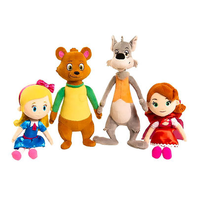Серый Волк / большой плохой Волк плюш - Голди и Мишка (Disney Junior Goldie and Bear Mini Plush - Big Bad Wolf) (фото, вид 1)