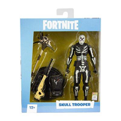 Скелет-патрульный солдат премиум Фортнайт (McFarlane Toys Fortnite Skull Trooper Premium Action Figure) (фото, вид 1)