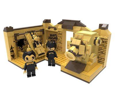Конструктор Бенди и чернильная машина: Сценическая комната (265 деталей) (Bendy and the Ink Machine - Room Scene (265 pieces)) (фото, вид 1)