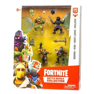 Коллекция Королевской битвы Фортнайт: набор из 4 фигурок (Fortnite Battle Royale Collection: 4 Action Figure Squad Pack) (фото, вид 1)