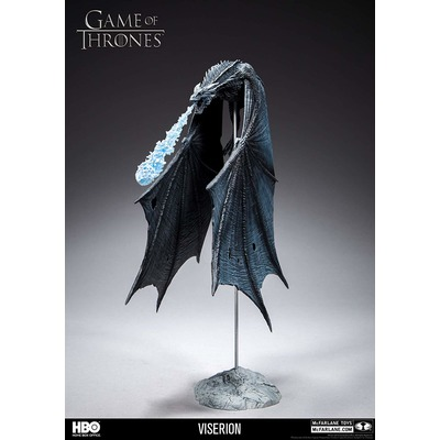 Игра престолов Визерион (Ледяной Дракон) Роскошная фигура (McFarlane Toys 10655-8 Game of Thrones Viserion Ice Dragon Deluxe Box) (фото, вид 3)