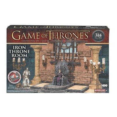 Игра престолов Железный тронный зал (набор - 314 деталей) (McFarlane Toys Game of Thrones Iron Throne Room Construction Set) (фото, вид 1)