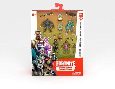 Коллекция Королевской битвы Фортнайт: набор из 4 фигурок (Эм Си Лама, Тёмный рейнджер, Оборотень и Наездник) (Fortnite Battle Royale Collection: Squad Pack - DJ Yonder, Calamity, Dire & Giddy-Up) (фото, вид 1)