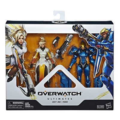 Ангел и Фарра - Набор фигурок Overwatch (Hasbro Overwatch Ultimates Series Pharah & Mercy Dual Pack Collectible Action Figures) (фото, вид 1)