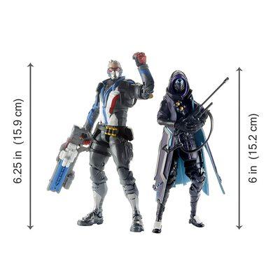 Солдат-76 и Ана Амари - Набор фигурок Overwatch (Hasbro Overwatch Ultimates Series Soldier: 76 & Shrike (Ana) Skin Dual Pack Collectible Action Figures) (фото, вид 2)