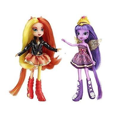 Набор кукол Сансет Шиммер и Твайлайт Спаркл (Сумеречная Искорка) - Девочки из Эквестрии (My Little Pony Equestria Girls Sunset Shimmer and Twilight Sparkle Figures) (фото, вид 1)
