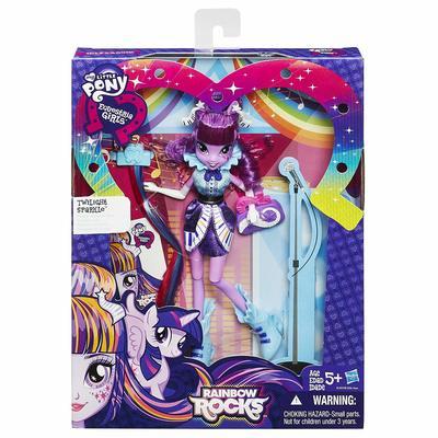 Кукла Твайлайт Спаркл - Девушки Эквестрии Rockin' Hairstyle (My Little Pony Equestria Girls Rainbow Rocks Twilight Sparkle Rockin' Hairstyle) (фото, вид 1)