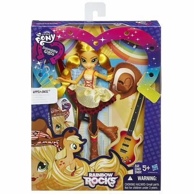 Кукла Эпплджек - Девушки Эквестрии Rockin' Hairstyle (My Little Pony Equestria Girls Rainbow Rocks Applejack Rockin' Hairstyle Doll) (фото, вид 1)