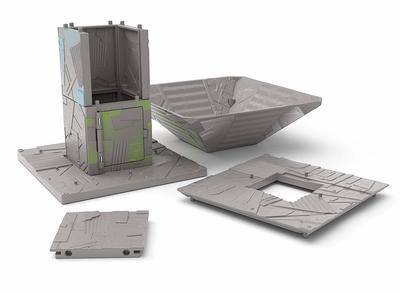Игровой набор Фортнайт Порт-A-Форт с фигуркой Диверсант (Fortnite Battle Royale Collection: Port-A-Fort Playset & Infiltrator Figure) (фото, вид 8)