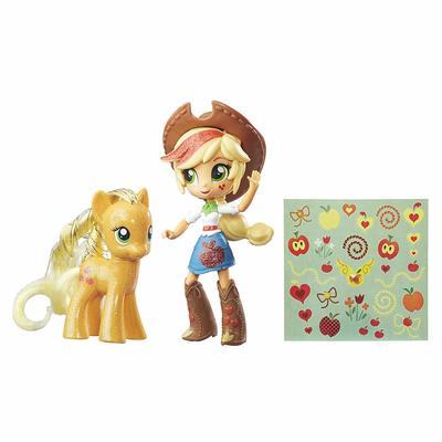 Набор Эпплджек - пони и мини кукла Девушки Эквестрии Эпплджек (My Little Pony Applejack Toys - Glitter Pony & Equestria Girls Doll) (фото, вид 1)