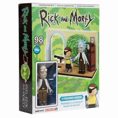 Злой Рик и Морти - малый конструктор Рик и Морти (98 дет) (McFarlane Toys Rick & Morty Evil Rick & Morty Small Construction) (фото, вид 1)
