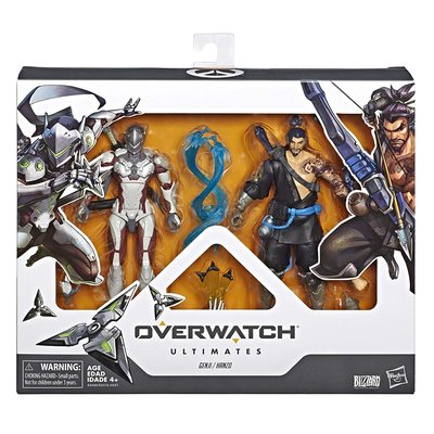 Гэндзи и Хандзо - Набор фигурок Overwatch (Hasbro Overwatch Ultimates Series Genji and Hanzo - Dual Pack Collectible Action Figures) (фото, вид 1)