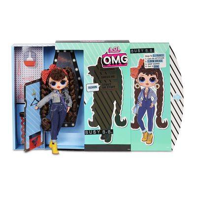 Кукла ЛОЛ Сюрприз! O.M.G. Стильная Бизи БиБи с 20 сюрпризами. (L.O.L. Surprise! O.M.G. Busy B.B. Fashion Doll with 20 Surprises) (фото, вид 1)