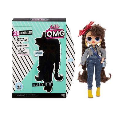 Кукла ЛОЛ Сюрприз! O.M.G. Стильная Бизи БиБи с 20 сюрпризами. (L.O.L. Surprise! O.M.G. Busy B.B. Fashion Doll with 20 Surprises) (фото, вид 2)