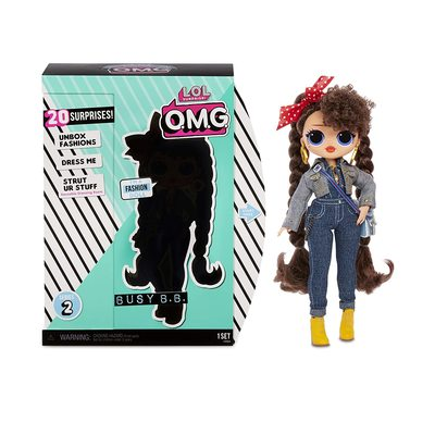 Кукла ЛОЛ O.M.G. Стильная Бизи БиБи с 20 сюрпризами. (LOL O.M.G. Busy B.B. Fashion Doll) (фото, вид 2)