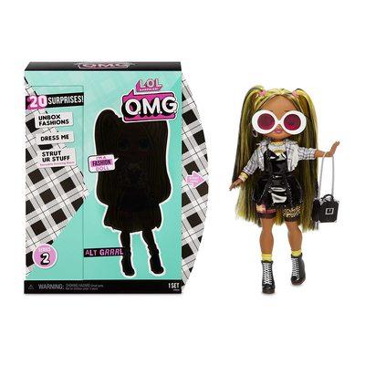 Кукла ЛОЛ Сюрприз! O.M.G. Стильная Альт Гёл с 20 сюрпризами. (L.O.L. Surprise! O.M.G. Alt Girl Fashion Doll with 20 Surprises) (фото, вид 2)
