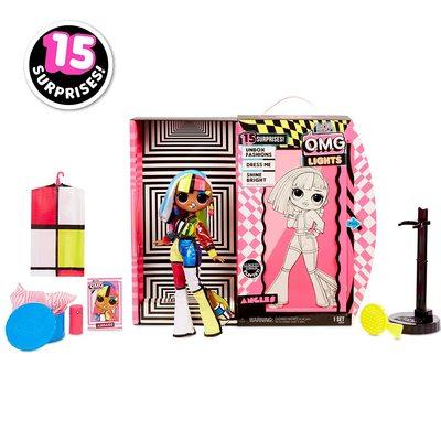 Кукла ЛОЛ O.M.G. Стильная Англс, светящаяся в темноте, с 15 сюрпризами (LOL O.M.G. Lights Angles Fashion Doll) (фото, вид 1)