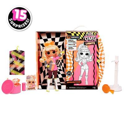 Кукла ЛОЛ Сюрприз! O.M.G. Стильная Спидстер, светящаяся в темноте, с 15 сюрпризами (L.O.L. Surprise! O.M.G. Lights Speedster Fashion Doll with 15 Surprises) (фото, вид 1)
