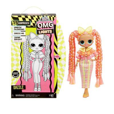 Кукла ЛОЛ O.M.G. Стильная Дазл, светящаяся в темноте, с 15 сюрпризами (LOL O.M.G. Lights Dazzle Fashion Doll) (фото, вид 2)