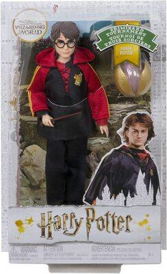 Кукла Гарри Поттер - Кубок огня с палочкой и золотым яйцом (Harry Potter Collectible Triwizard Tournament Doll, Wand and Golden Egg Accessory) (фото, вид 1)