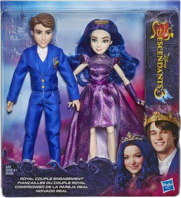 "Набор кукол Бен и Мэл из серии ""Наследники Дисней 3"" (Disney Descendants 3 Royal Couple Engagement, 2-Doll Pack Ben and Mal) (фото, вид 1)"
